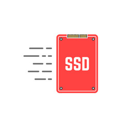 red ssd like fast data transmissio vector image