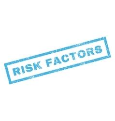 Risk factors rubber stamp vector