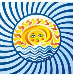 Sea and sun vector image