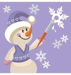 Snowman color 17 vector