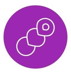 Spiral bread line icon vector