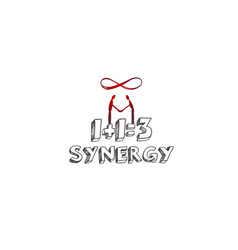 synergy concept hand drawn vector image