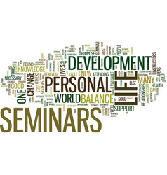 The importance of personal development seminars vector