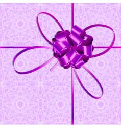violet bow vector image vector image