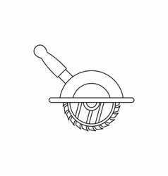 Circular saw icon outline style vector