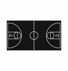 Basketball field icon simple style vector
