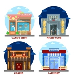 Casino building and nightclub entertainment vector