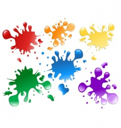 paint splatters vector image