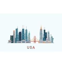 USA skyline vector image