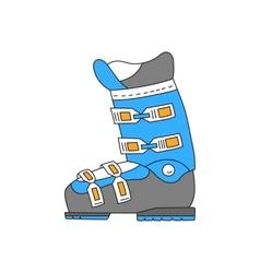 Ski boots line hand drawn icon vector image