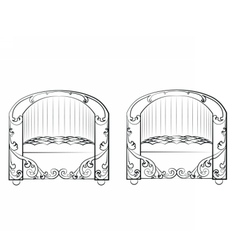 Armchair furniture set vector