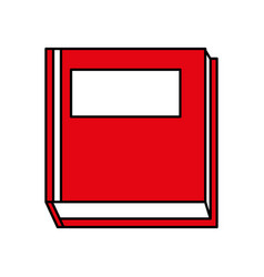 Closed book with blank cover icon image vector