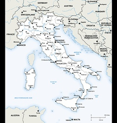 Italy political map vector