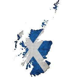 Scotland map grunge mosaic vector
