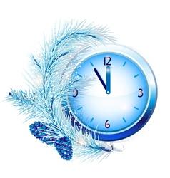 New Years clock vector image