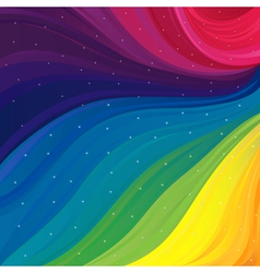 Pattern with spectrum colors and stars vector