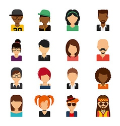 Person avatars vector