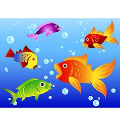 Colorful fishes vector image