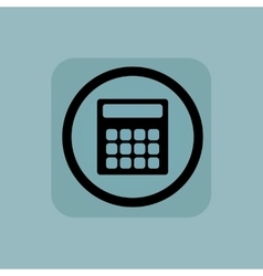 Pale blue calculator sign vector