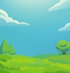 green hill vertical vector image