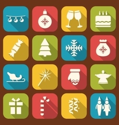 Christmas party simple icons vector