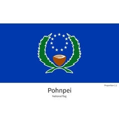 National flag of pohnpei with correct proportions vector