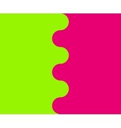 Wavy border between two colors vector image