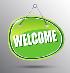 Welcome hanging sign vector