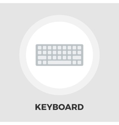 Keyboard flat icon vector