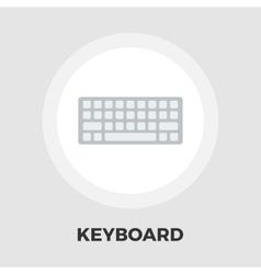 Keyboard flat icon vector image