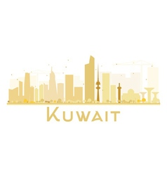 Kuwait city skyline golden silhouette vector