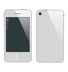 Abstract phone symbol white color vector