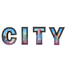 City construction typographic vector