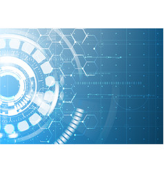 abstract technological future interface blueprint vector image vector image