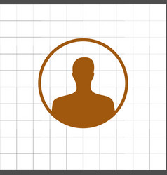 assistance icon isolated for vector image vector image