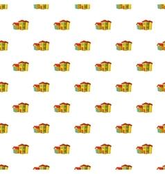 Big house pattern cartoon style vector