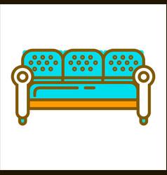 Blue big furniture vector