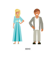 Boho style suits vector
