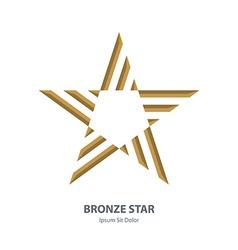 Bronze 3d star business international award vector
