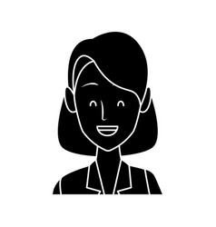 business woman cartoon vector image