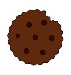 Color image cartoon cookie snack food vector