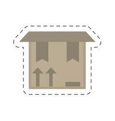 Delivery box package carton vector