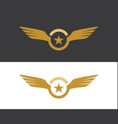 Falcon eagle bird logo template icon vector