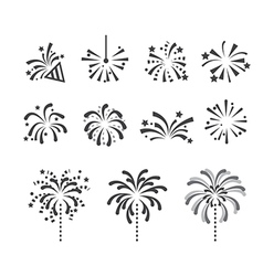 fireworks icon vector image