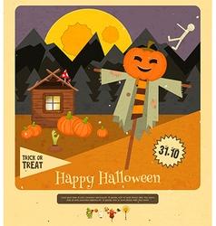 Halloween - Scarecrow Pumpkins vector image