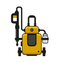 High pressure washer car wash machine vector