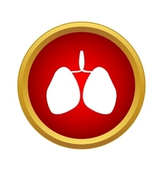 Human lungs icon simple style vector