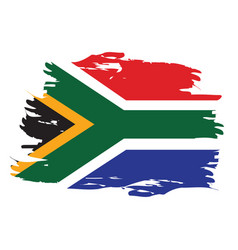 Isolated south african flag vector