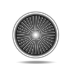 Jet Engine Turbine vector image