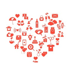 Love mix icons heart vector
